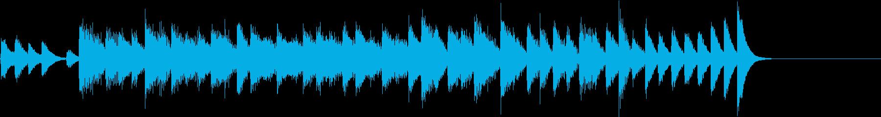 快活なスピード感のあるピアノジングルの再生済みの波形