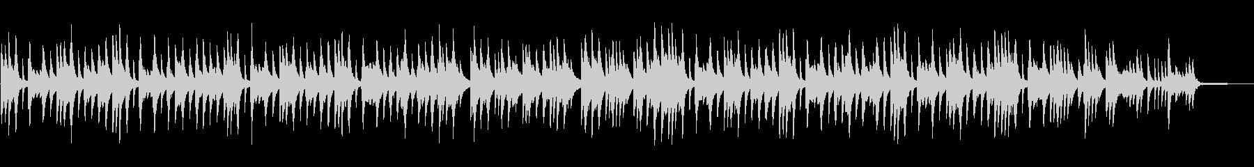 情感を誘う切ないピアノソロBGMの未再生の波形
