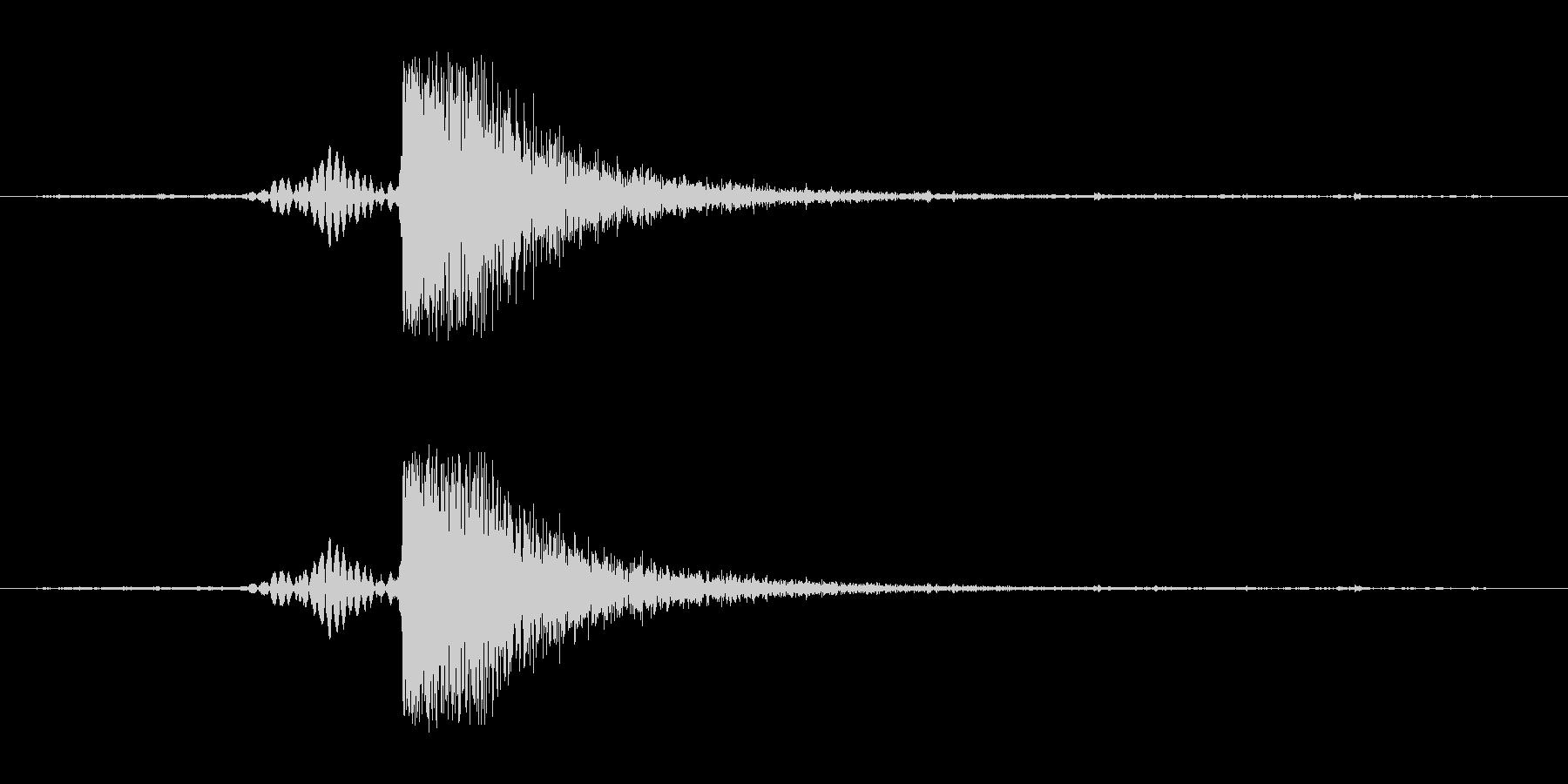 パンッ、平手の音。の未再生の波形