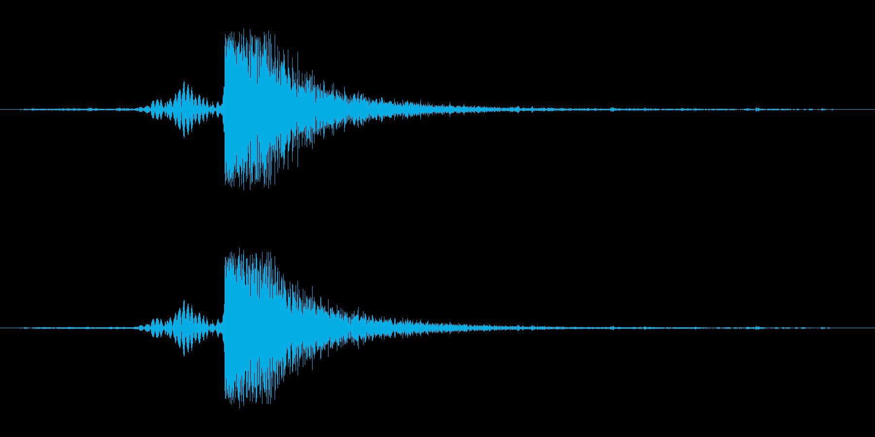 パンッ、平手の音。の再生済みの波形