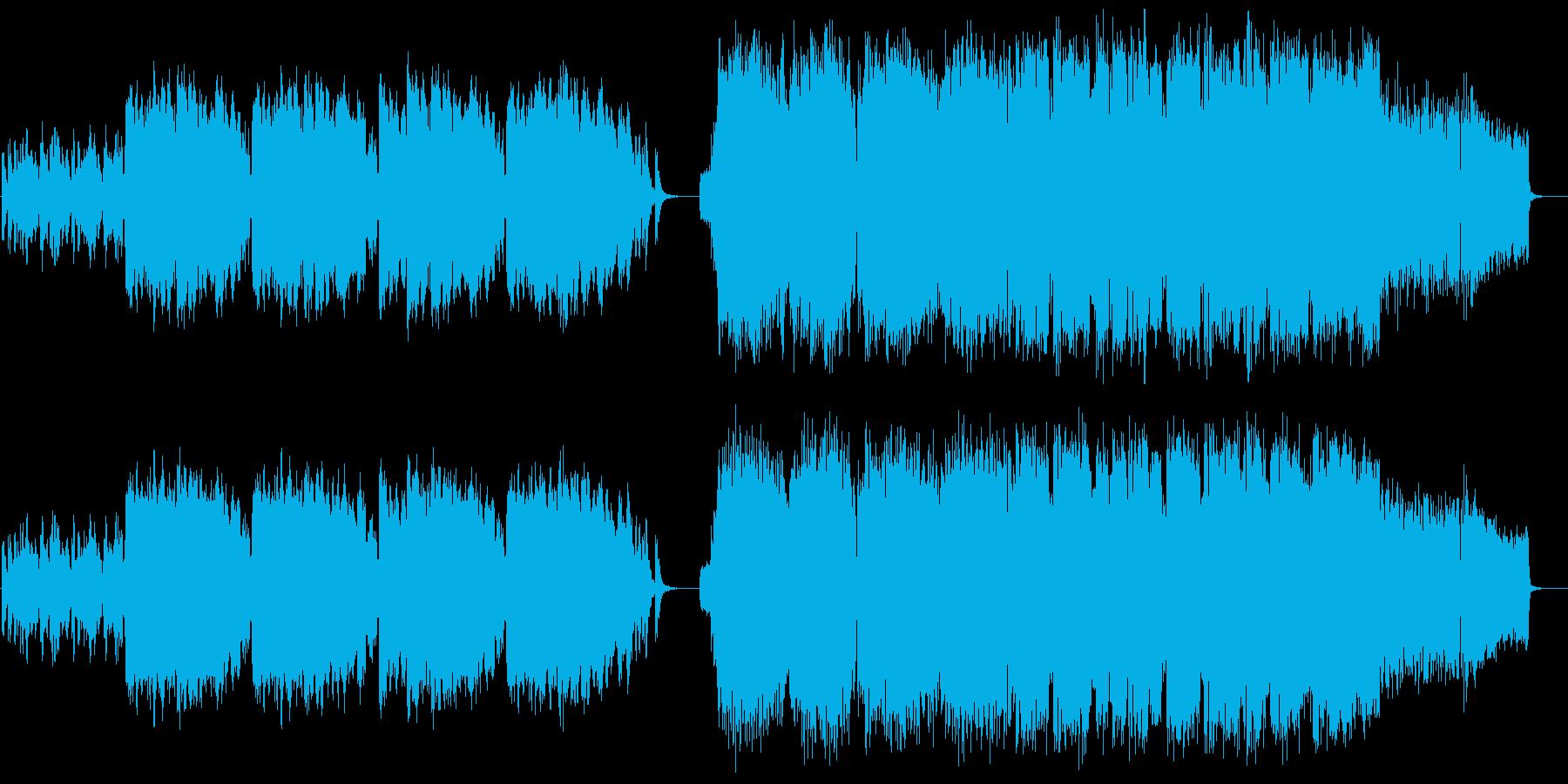 和風×ロックの緊迫感ある戦闘曲の再生済みの波形