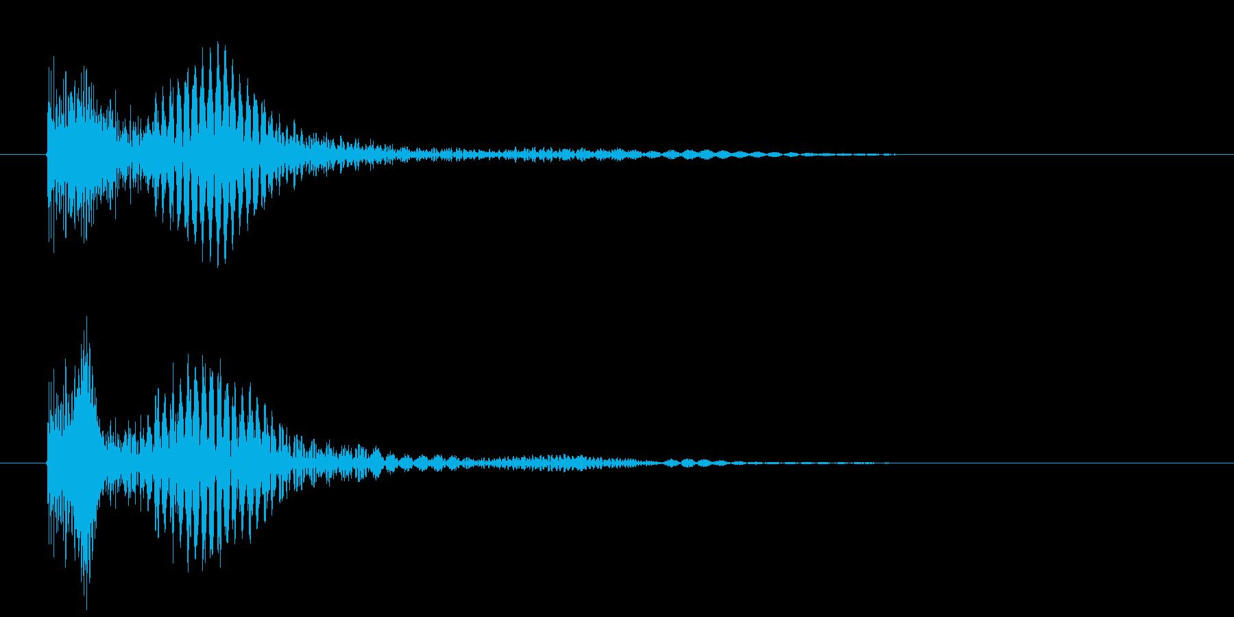 ぎゅ~~~ん、と下がる和音です。の再生済みの波形