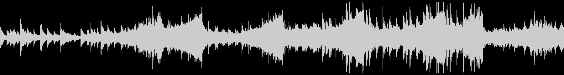 不安定な音程が特徴的の不気味ホラーBGMの未再生の波形