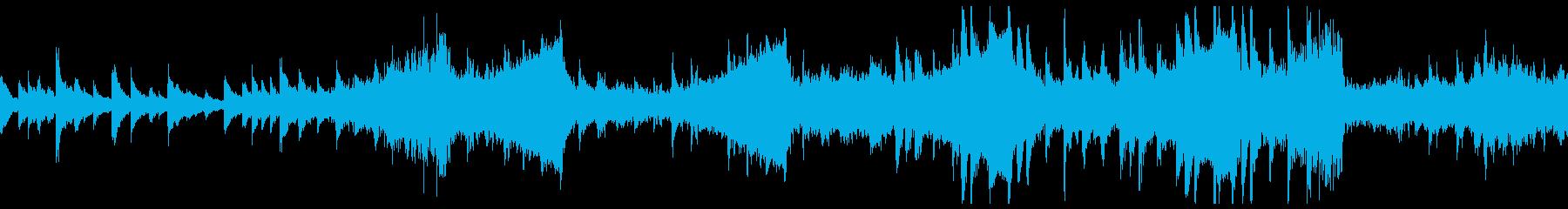 不安定な音程が特徴的の不気味ホラーBGMの再生済みの波形
