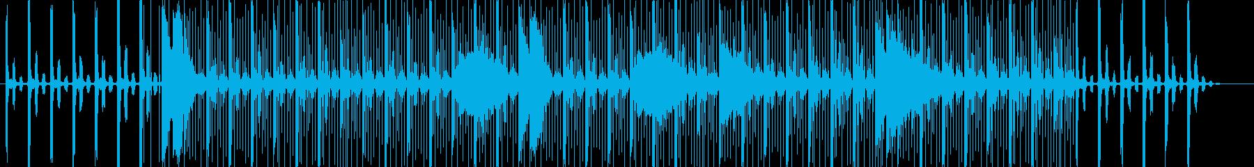 バトルでお洒落テクノハウスな悲しげBGMの再生済みの波形
