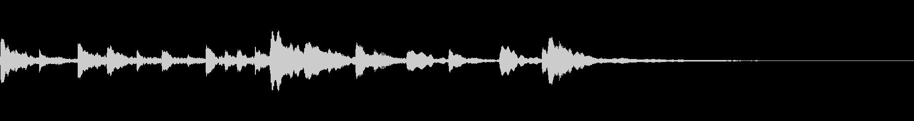 ピアノ ソロ 約15秒 CM 透明感 白の未再生の波形
