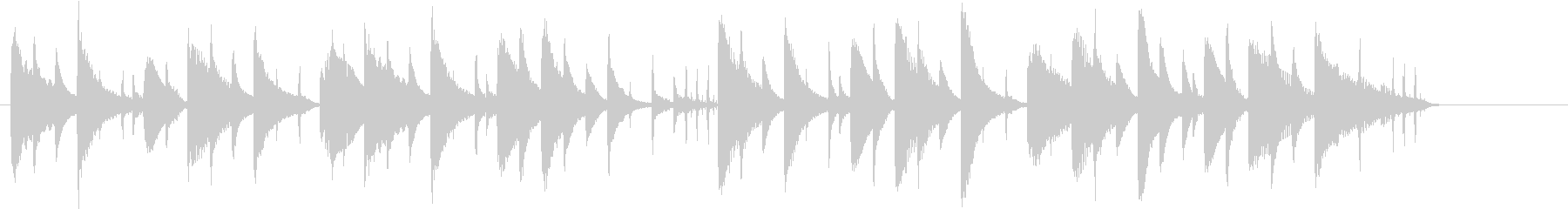 ほのぼの系のシンプルな短い曲の未再生の波形