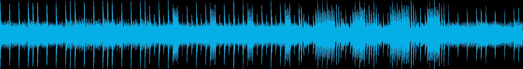レトロゲーム風、月イメージの優しいBGMの再生済みの波形