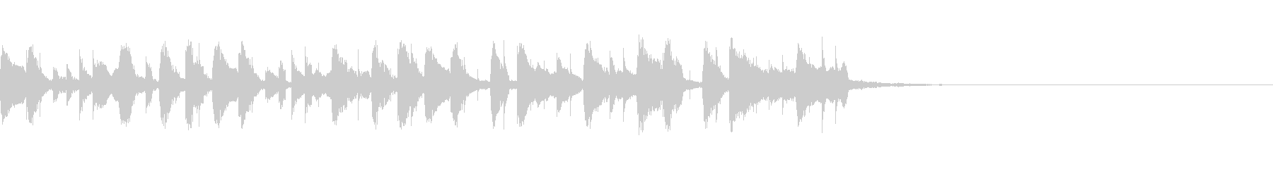 フルートの短くてゆるい曲の未再生の波形