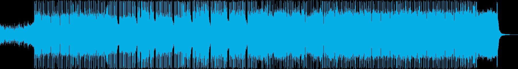 ミドルテンポのダークなメタルの再生済みの波形