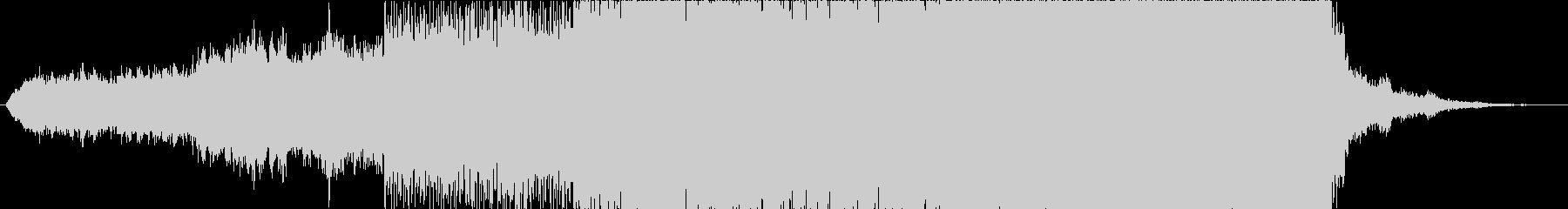 近未来的なダークで怪しい雰囲気の曲の未再生の波形