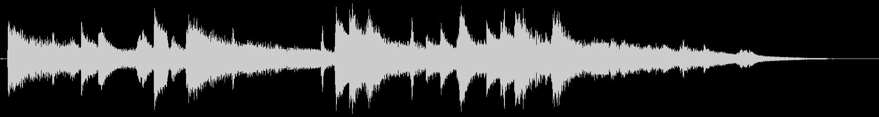 ムーディーなジャズピアノのジングルの未再生の波形