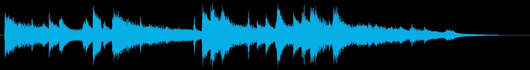 ムーディーなジャズピアノのジングルの再生済みの波形