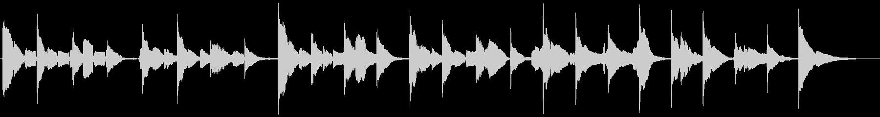 サックスとギターの官能的な曲の未再生の波形