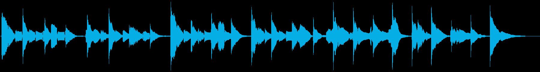 サックスとギターの官能的な曲の再生済みの波形