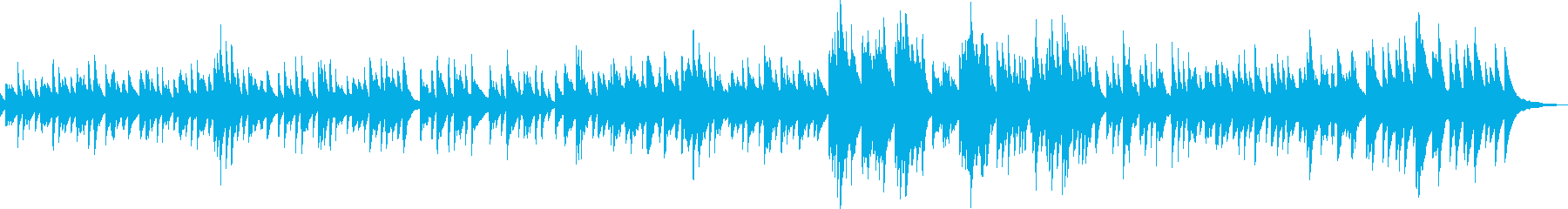 A sad and powerful piano ballad song's reproduced waveform