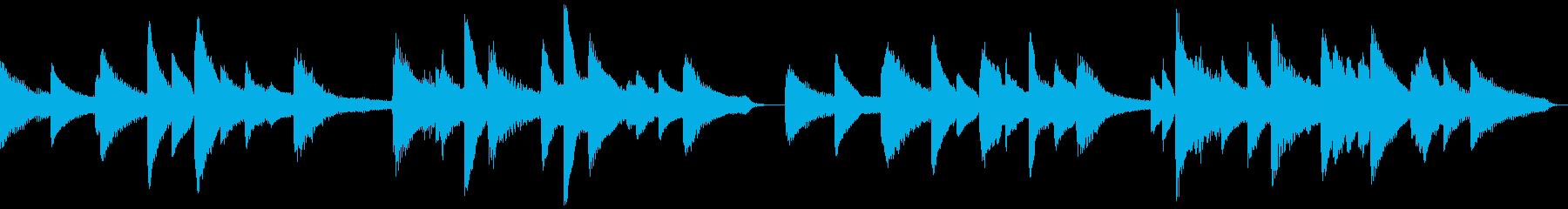 満月をイメージした和風ピアノ曲:ループの再生済みの波形