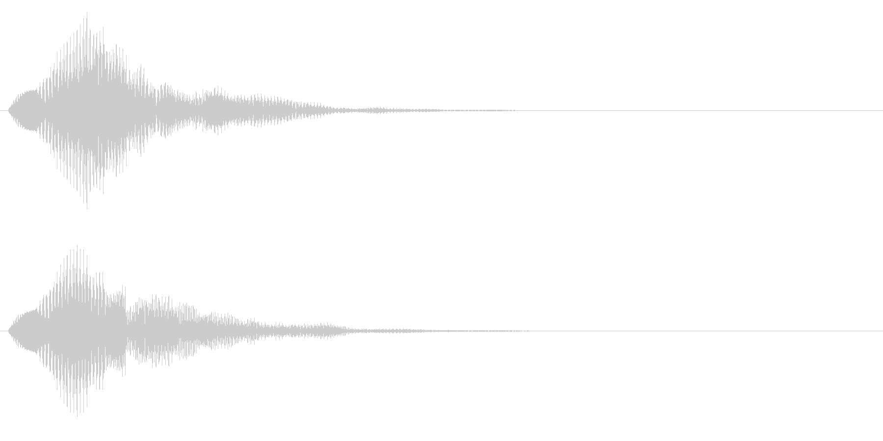 プワワン(回復魔法・アイテム使用)の未再生の波形
