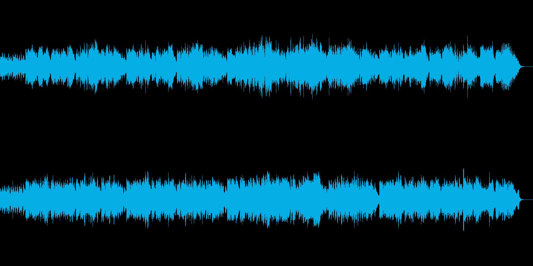 フルートとハープの穏やかなクラシック曲の再生済みの波形