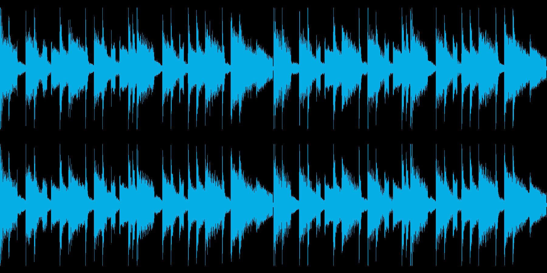ピアノループが印象的なインスト ループの再生済みの波形