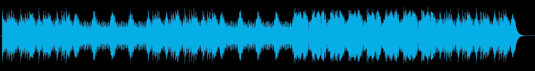 どこか切なさを感じさせる神秘的なテクノの再生済みの波形
