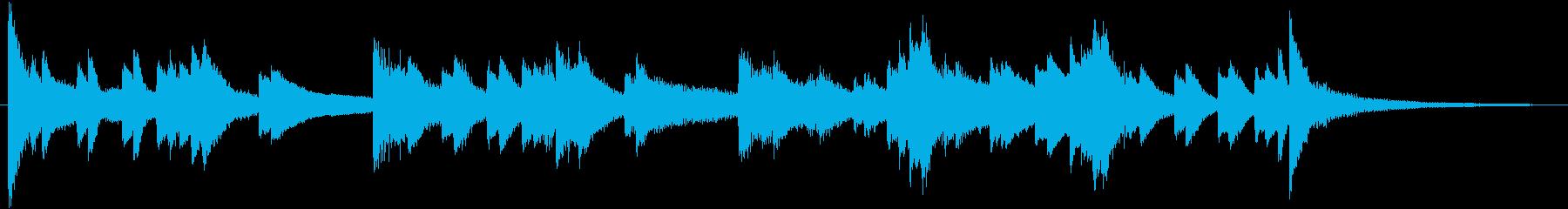 しっとりと幻想的で美しいピアノジングルの再生済みの波形