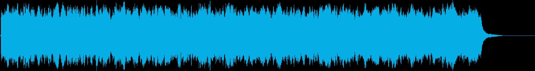 「警告!」「STOP!」的なイメージの音の再生済みの波形