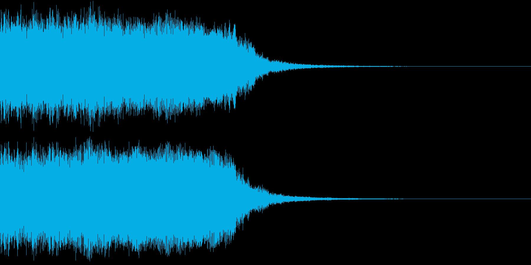 ロック 場面切り替え ジングルの再生済みの波形