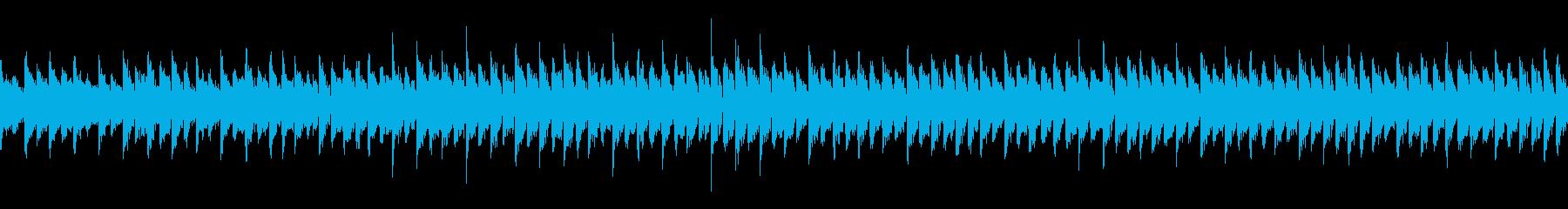 スクエア波形シンセの長めなループの再生済みの波形