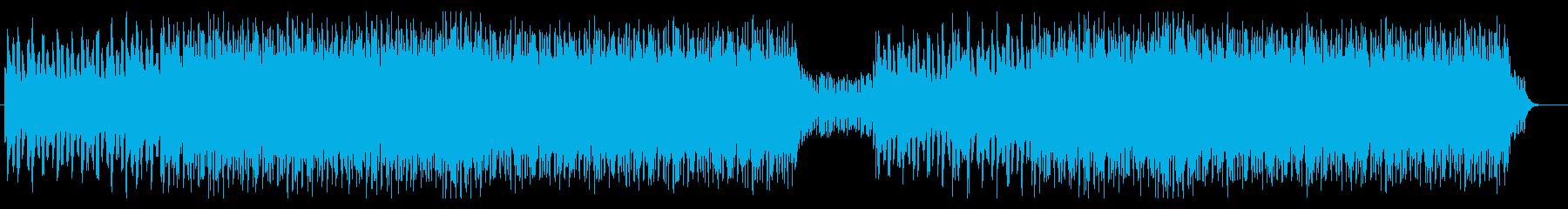 近未来的で疾走感のあるBGMの再生済みの波形