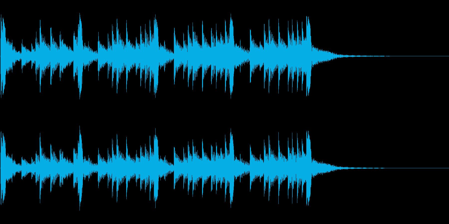 低音:トライバルリズム、漫画コメデ...の再生済みの波形