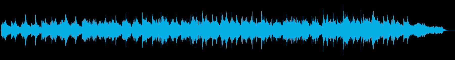 心地よいヒーリングミュージックの再生済みの波形