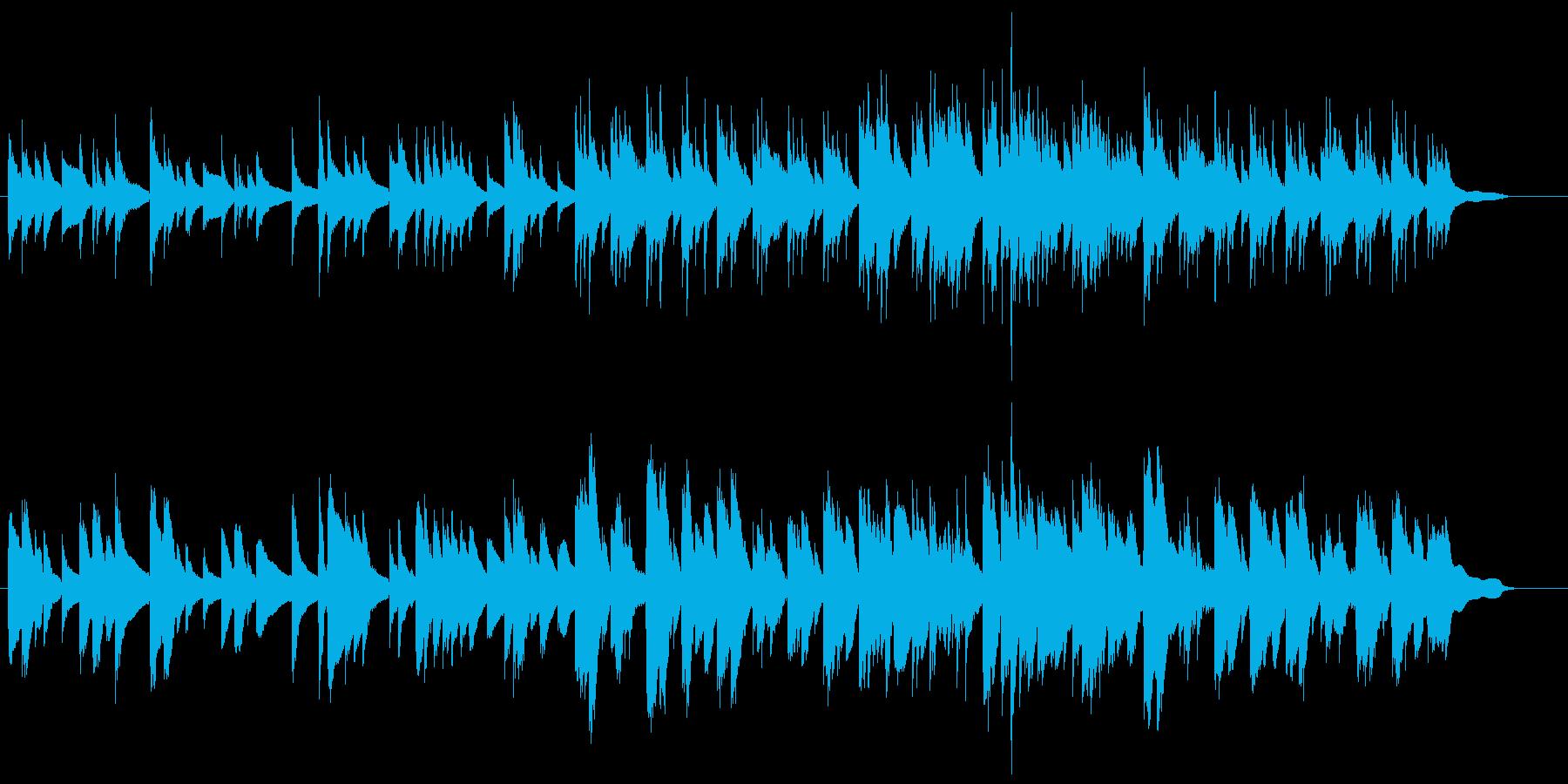2本のギターによる柔らかい曲の再生済みの波形