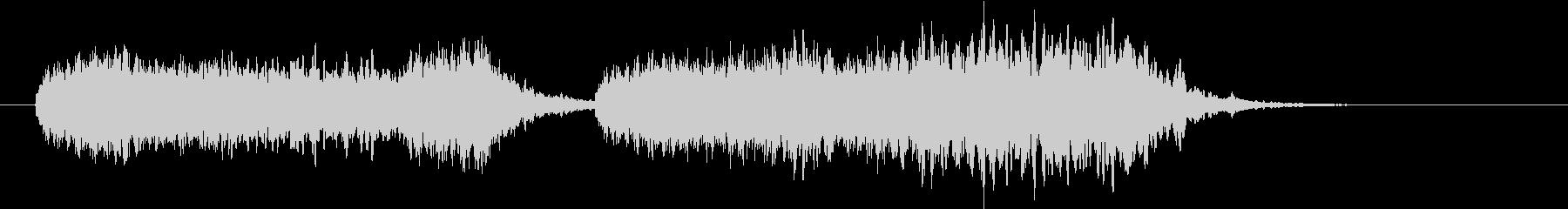 ラーメン屋台のチャルメラの音の未再生の波形
