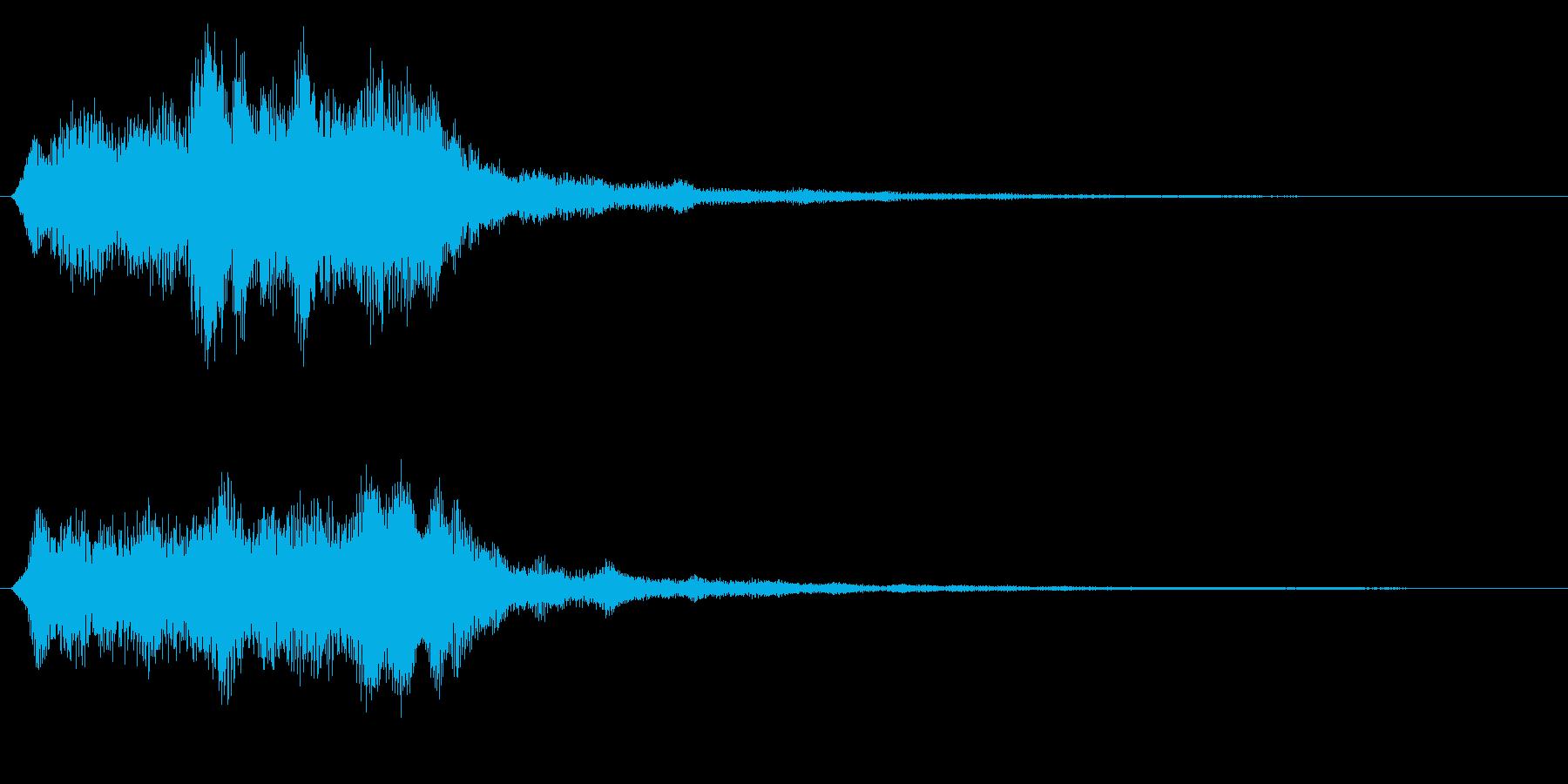 バイオリンのクラシカルフレーズ 場面転換の再生済みの波形