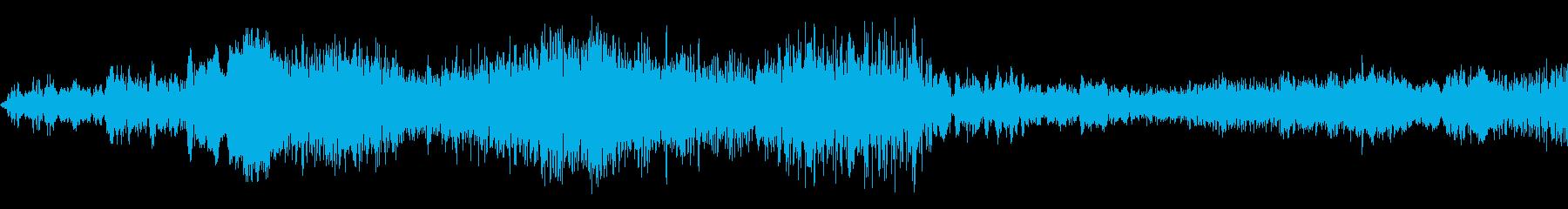 シャープなノイズ遷移の再生済みの波形