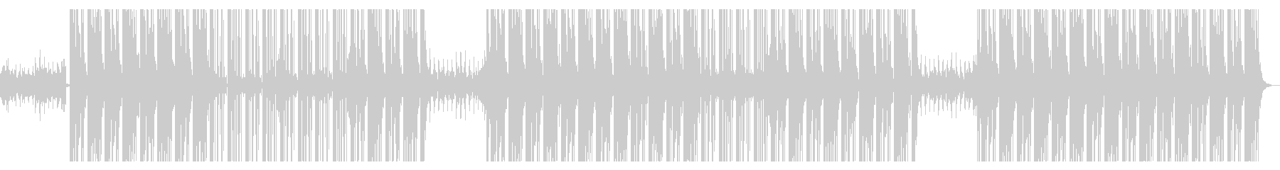 ハードでタフなヒップホップビートの未再生の波形