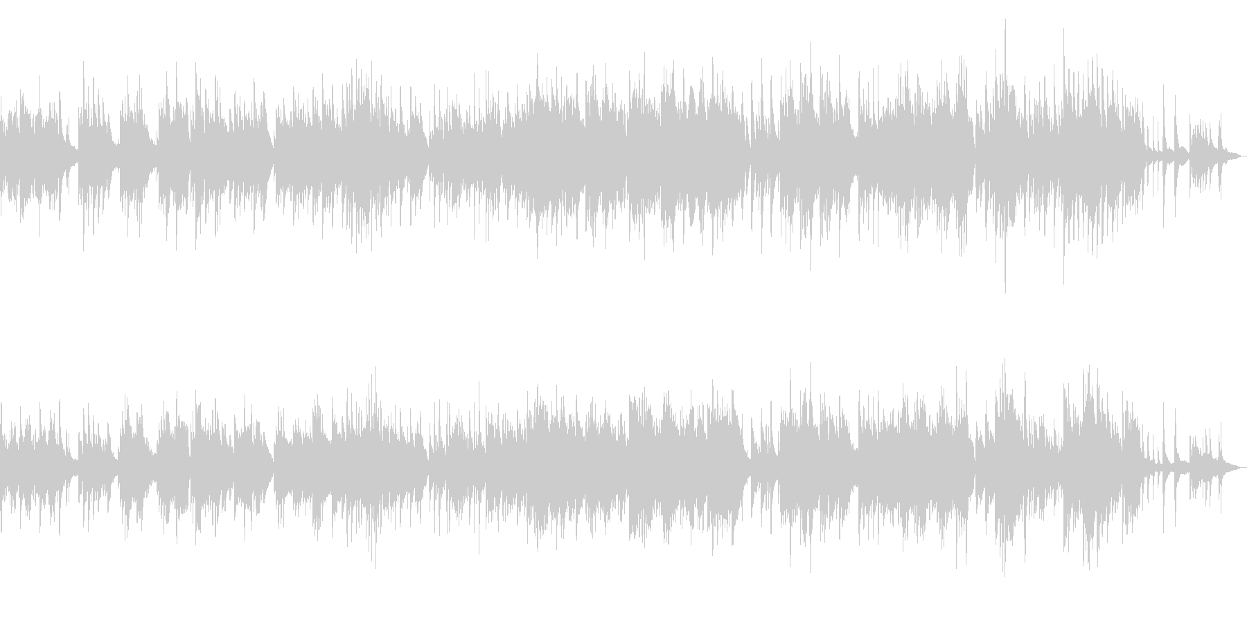 和の映像に似合うBGM 和楽器ピアノの未再生の波形