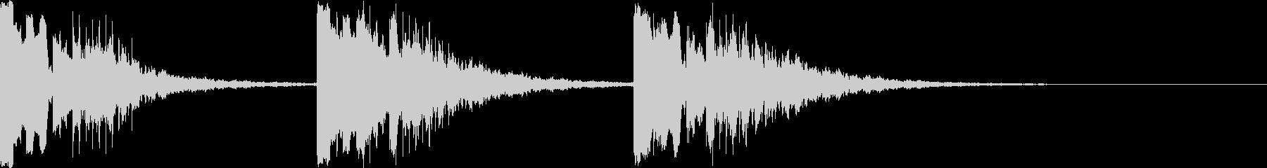 着信音、お知らせ、アラーム音の未再生の波形