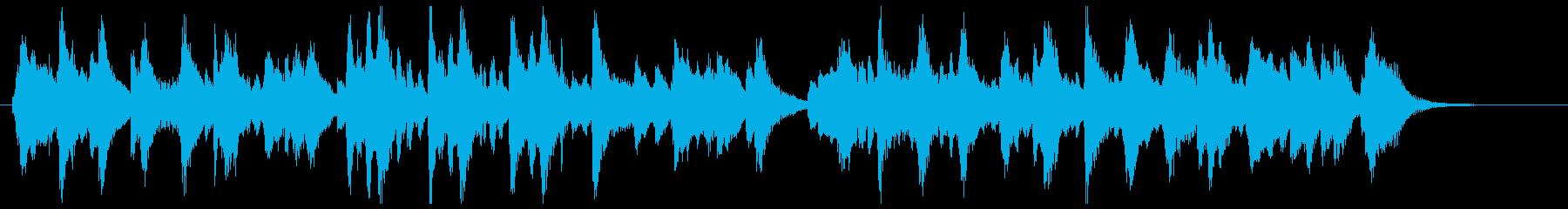 ゆったりしたBGM マリンバ風メロディの再生済みの波形