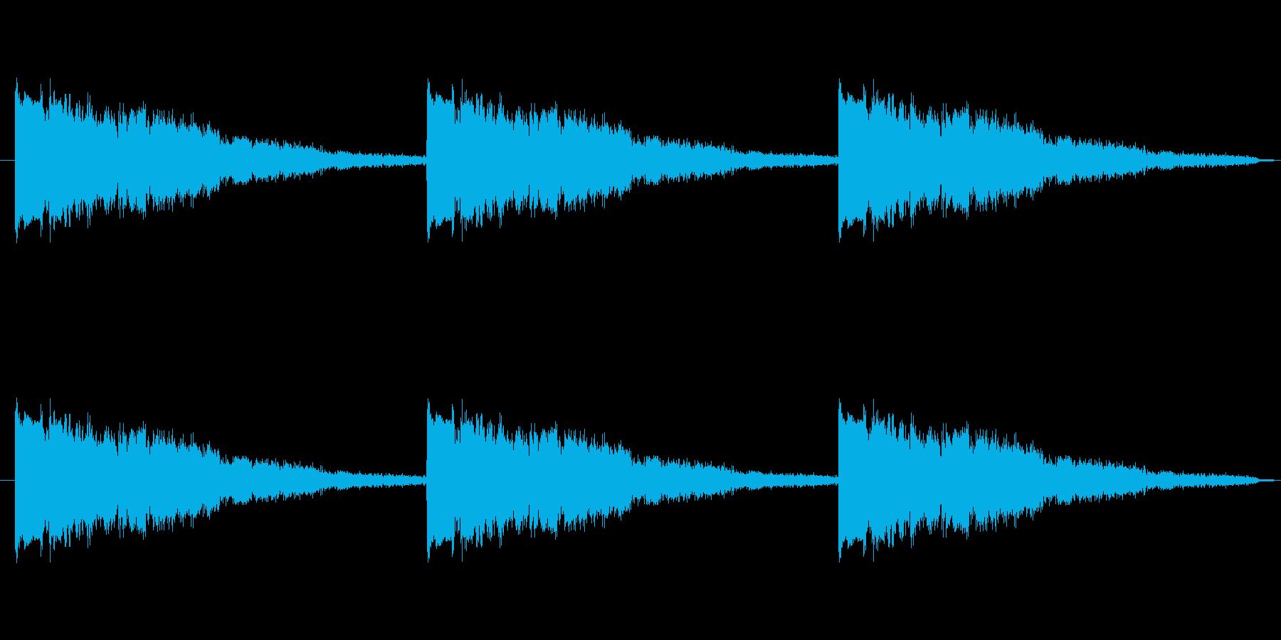 きゅいんきゅいんきゅいん!/警報サイレンの再生済みの波形