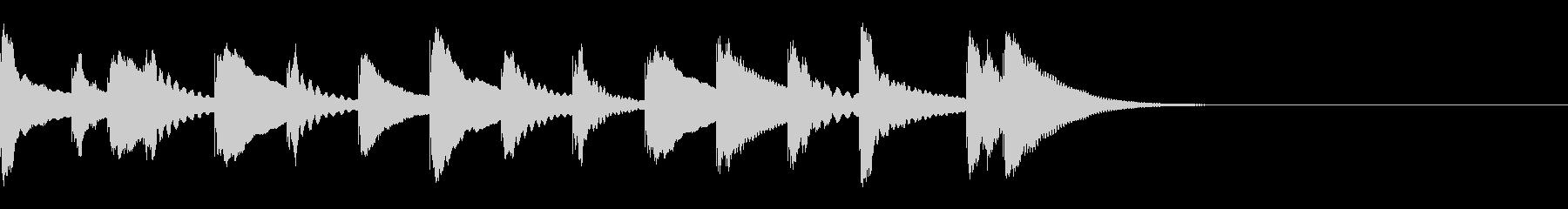 木琴の「おやっ?」となる5秒ジングルの未再生の波形