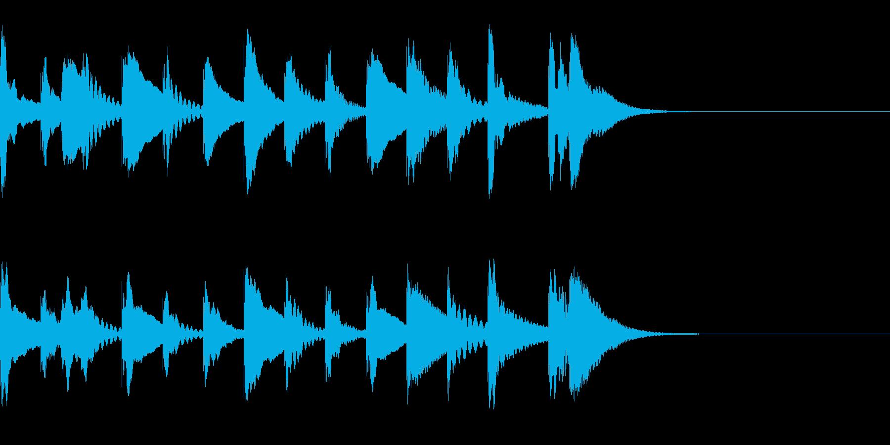 木琴の「おやっ?」となる5秒ジングルの再生済みの波形