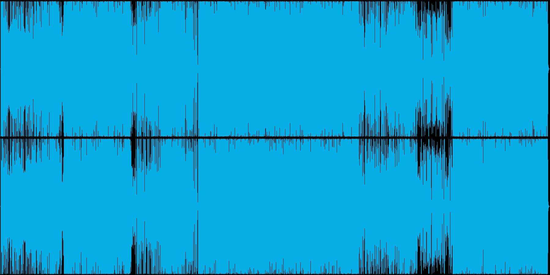 変拍子のオシャレギターロックの再生済みの波形