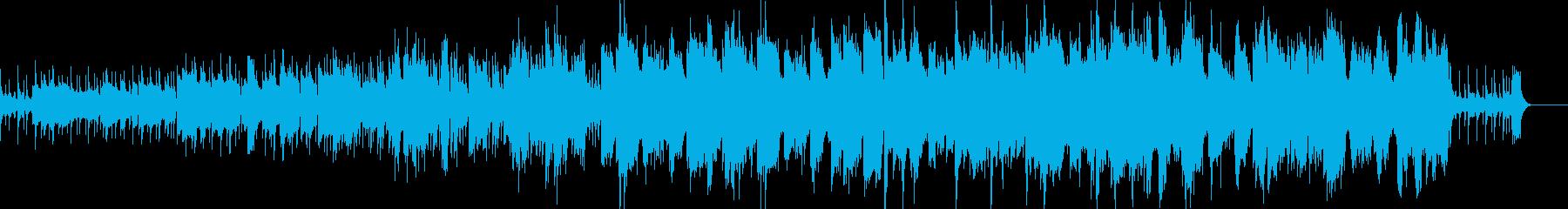 ファンタジーRPGの村や集落の音楽の再生済みの波形