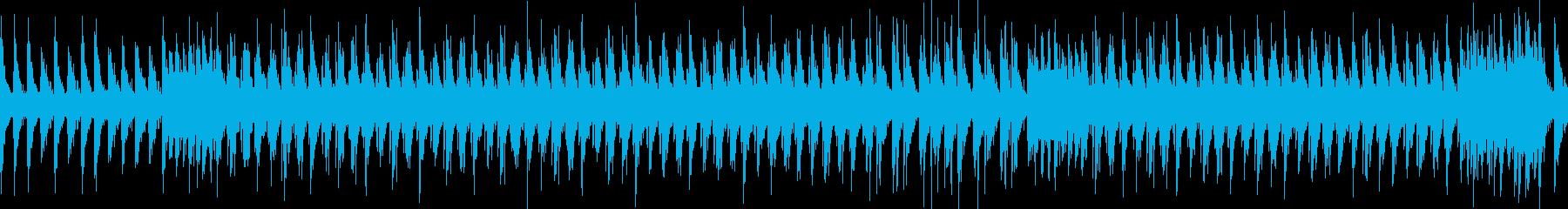 楽しげなリズムの和太鼓 祭り風の再生済みの波形