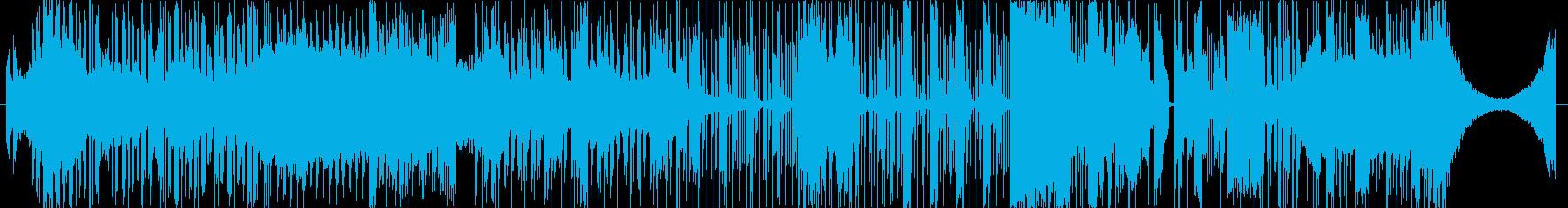 アップテンポで派手なTrap曲の再生済みの波形