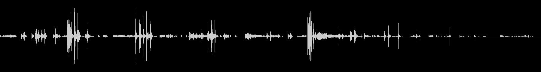 デジタル静的グリッチ:メタリック、...の未再生の波形