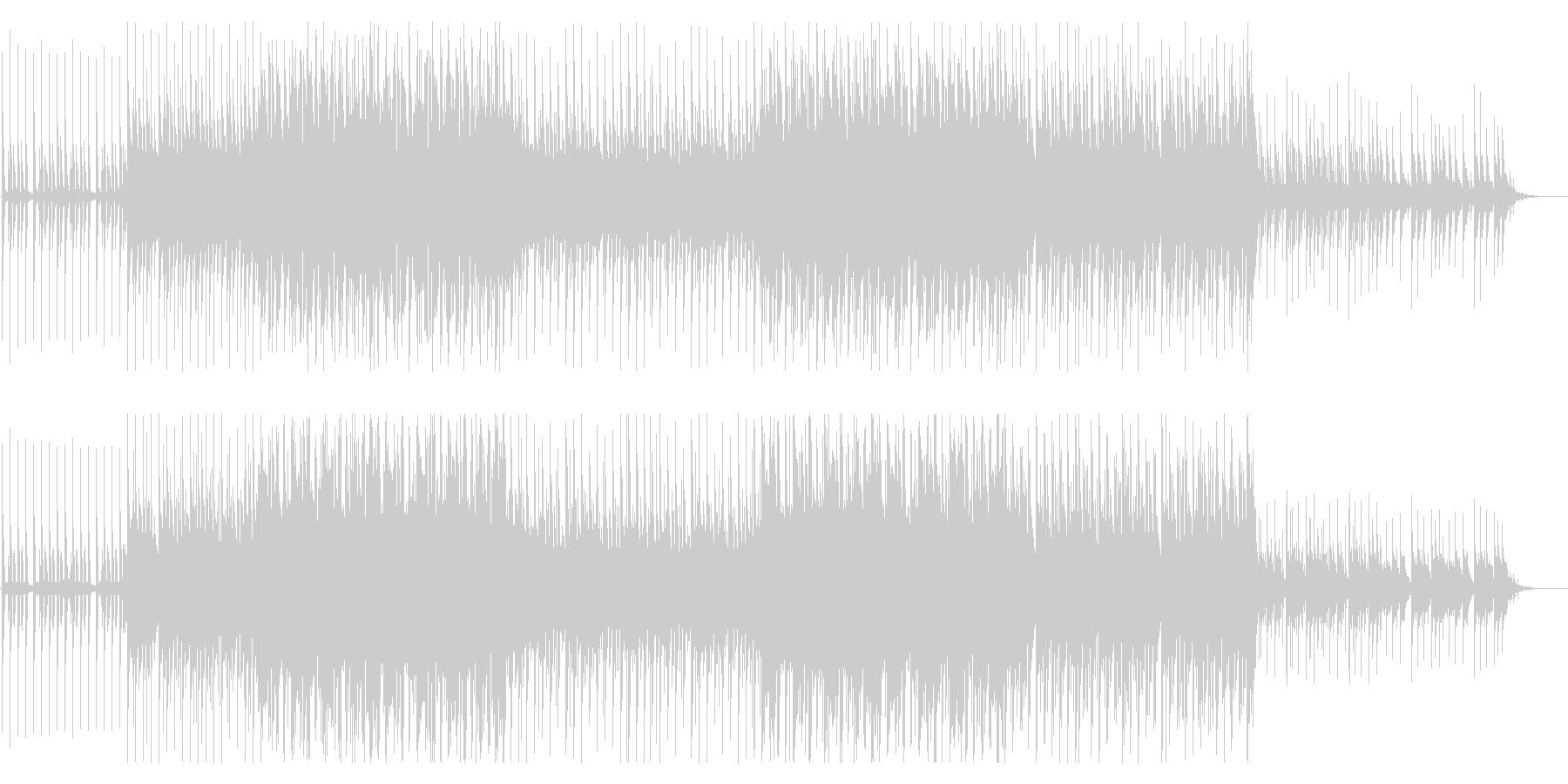 トロピカルハウス風味のBGM(ダブラッカの未再生の波形