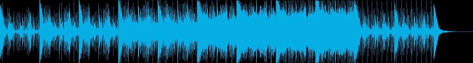 重厚、壮大、幻想的な和風テイストの曲の再生済みの波形